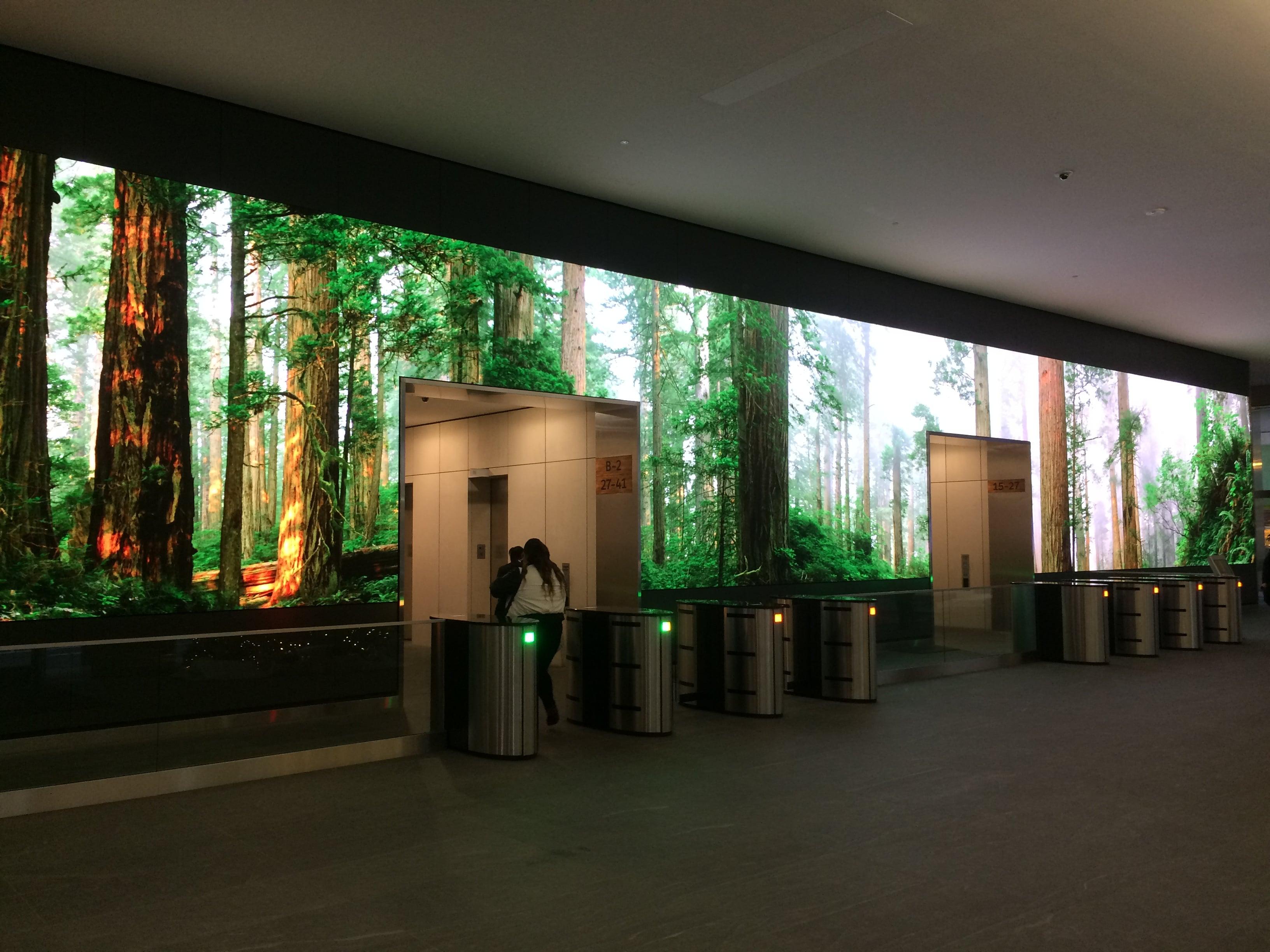Videowall reception